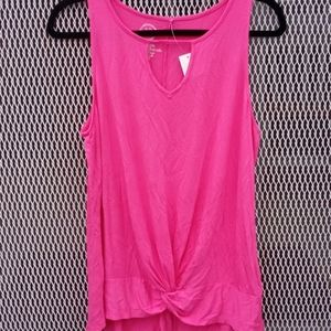 Maurices 24/7 Pink Tank Top Size M - NWT